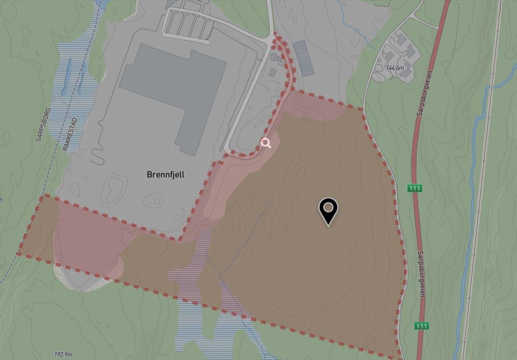Ledige næringstomter på Rudskogen nær Sarpsborg
